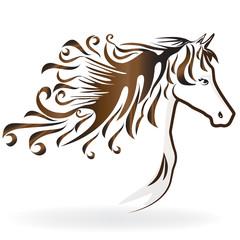 Logo animal head horse outline decal wallpaper