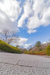 石の道と青空