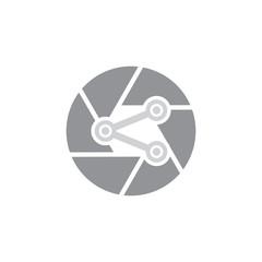 Share Camera Logo Icon Design