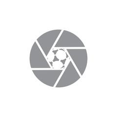 Soccer Camera Logo Icon Design