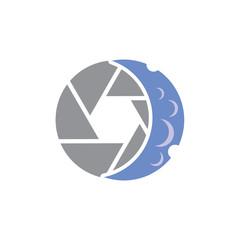 Moon Camera Logo Icon Design
