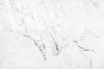 White marble texture with natural pattern for design art work.