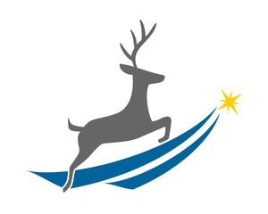 reindeer deer elk stag image vector icon logo silhouette