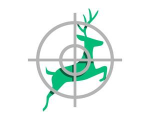 deer hunter reindeer deer elk stag image vector icon logo silhouette 3