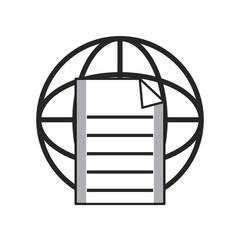 Global document sphere icon vector illustration graphic design