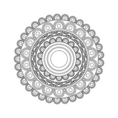 ornamental round floral mandala ethnic abstract decoration vector illustration