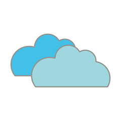 line color nature clouds weather in the sky icon
