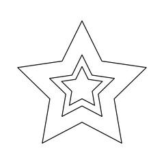Videogame star symbol icon vector illustration graphic design