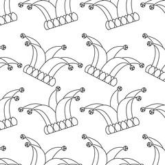 jester hat bells cloth festival carnival background vector illustration