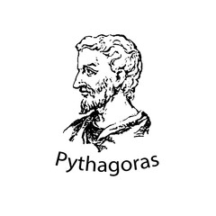 The ancient Greek mathematician and scientist Pythagoras