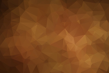 Dark brown triangle mosaic background. Creative geometric illustration in Origami style with gradient. The template can be used as a background for cell phones.