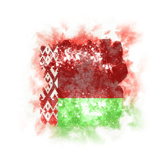 Square grunge flag of belarus