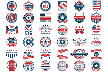 America Vector label for banner Fototapete
