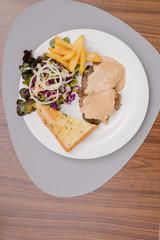 pork steak lunch