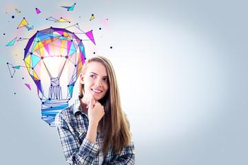Idea and creativity concept