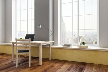 Workplace in contemporary interior