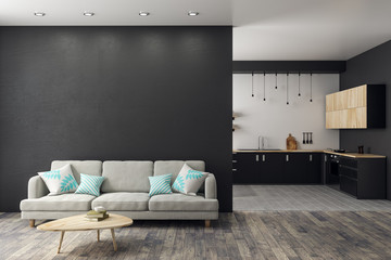 Modern studio interior Wall mural