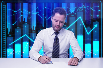 Contract and investment concept