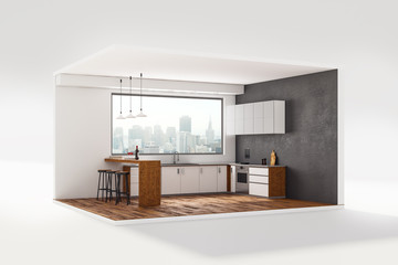 Mini kitchen interior
