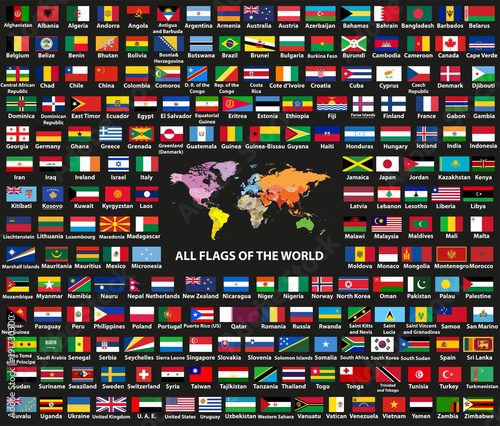 Vector set of all world countries(sovereign states) flags ...