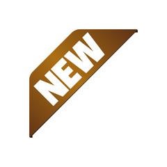 New banner icon ( corner ribbon) / bronze