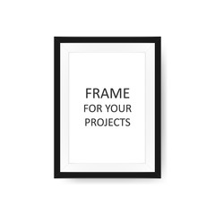 Vector image of a realistic photo frame.