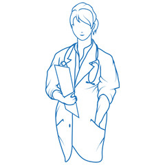 Woman doctor. Doctor with stethoscope. Nurse day. Health Care. Young doctor in uniform. Medicine. Doctors dressed in uniform and stethoscope. Female doctor.