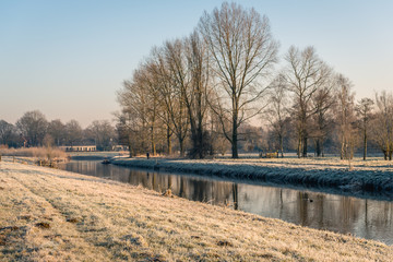 Dutch landscape in wintertime