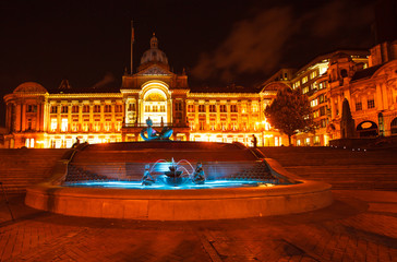 Floozie in the Jacuzzi River statue in front of Birmingham City Council House