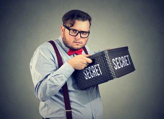 Suspicious?man keeping secrets