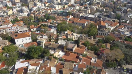 Wall Mural - Roofs of Old Town of Athens from above, Greece. Zoom out