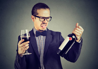 Man dissatisfied with wine quality
