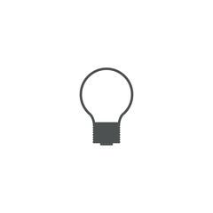bulb icon. sign design