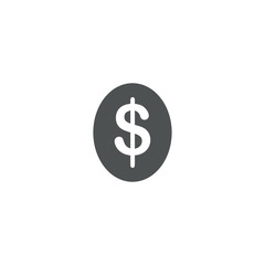 dollar icon. sign design