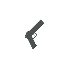 pistol icon. sign design