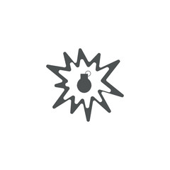 bomb icon. sign design
