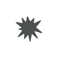 bomb icon. sign design