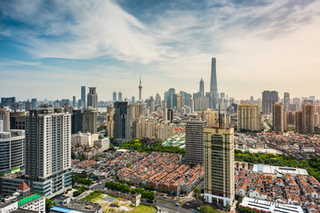 panorama view of Shanghai cityscape