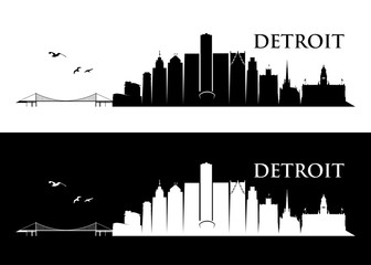 Detroit skyline, Michigan