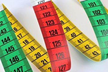 An concept Image of a colorful tape measure