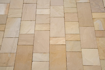 New stone slab pavement pattern