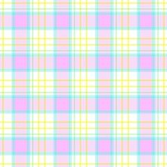 check diamond tartan plaid scotch fabric seamless pattern texture background - light cute pastel color
