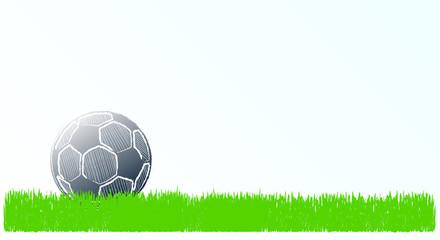 Soccer ball, Football design, international tournament, free copy space vector