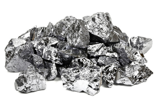 high purity polycrystalline silicon from Freiberg/ Germany isolated on white background