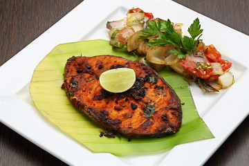 fish fry with spices