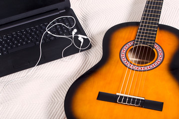 Guitar and computer