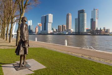 Photo sur Aluminium Rotterdam View of Rotterdam's Southbank skyline from Parkkade