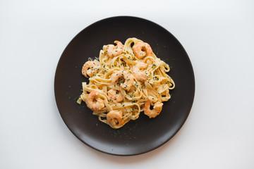 Tagliatelle Pasta with shrimps