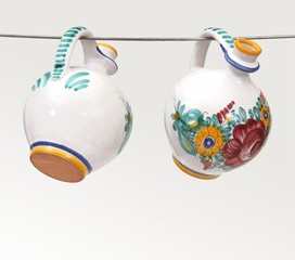 Traditional ceramic jugs from Slovakia