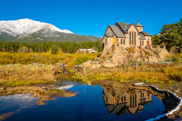 Chapel on the Rock near Estes Park in Colorado
